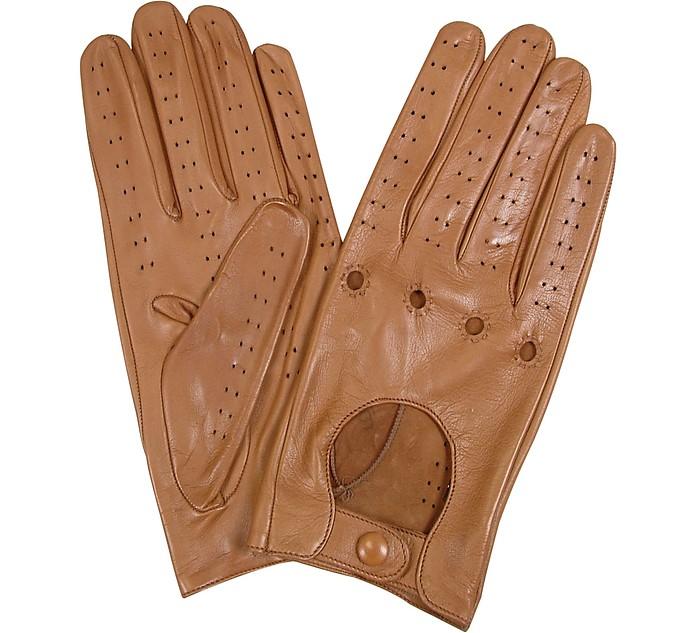 Damenhandschuhe aus italienischem Leder perforiert - Forzieri
