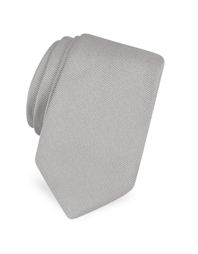 Schlichte Krawatte aus Twillseide  - Forzieri