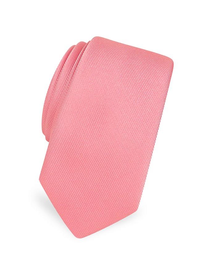 Cravate étroite en soie sergée unie - Forzieri