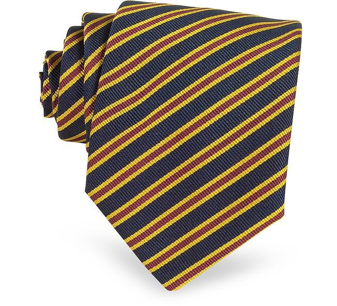 Extra-lange Krawatte mit Regimentalstreifen - Forzieri