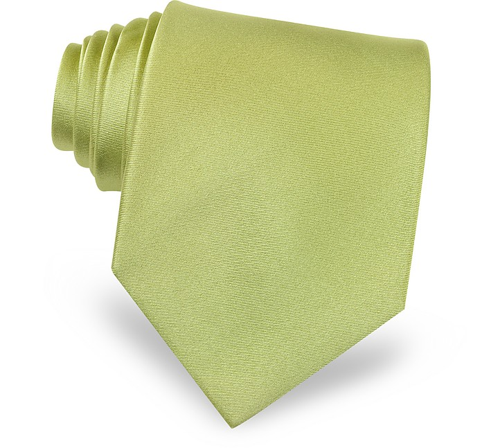 Cravatta extra-long verde tinta unita Forzieri RKHsbq