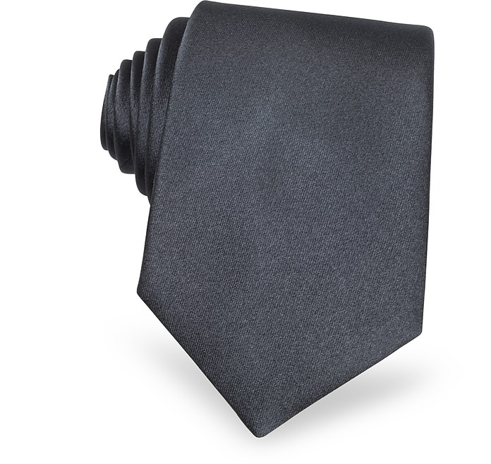 Solid Grey Extra-Long Tie - Forzieri
