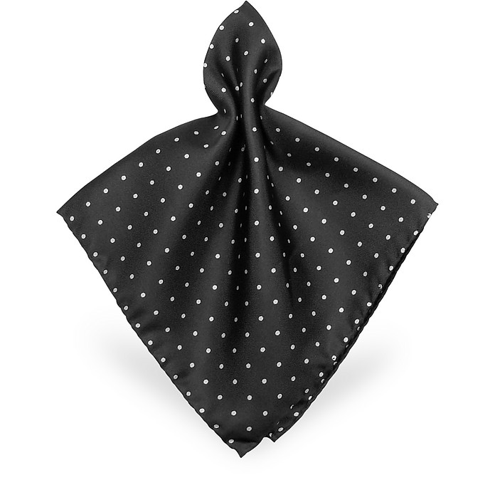 Polkadot Twill Silk Pocket Square - Forzieri