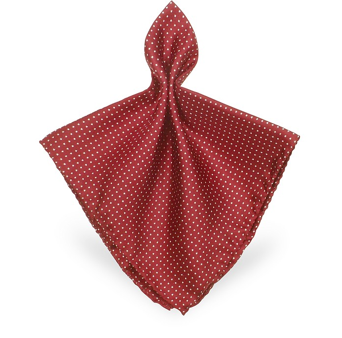 Mini Polkadot Twill Silk Pocket Square - Forzieri