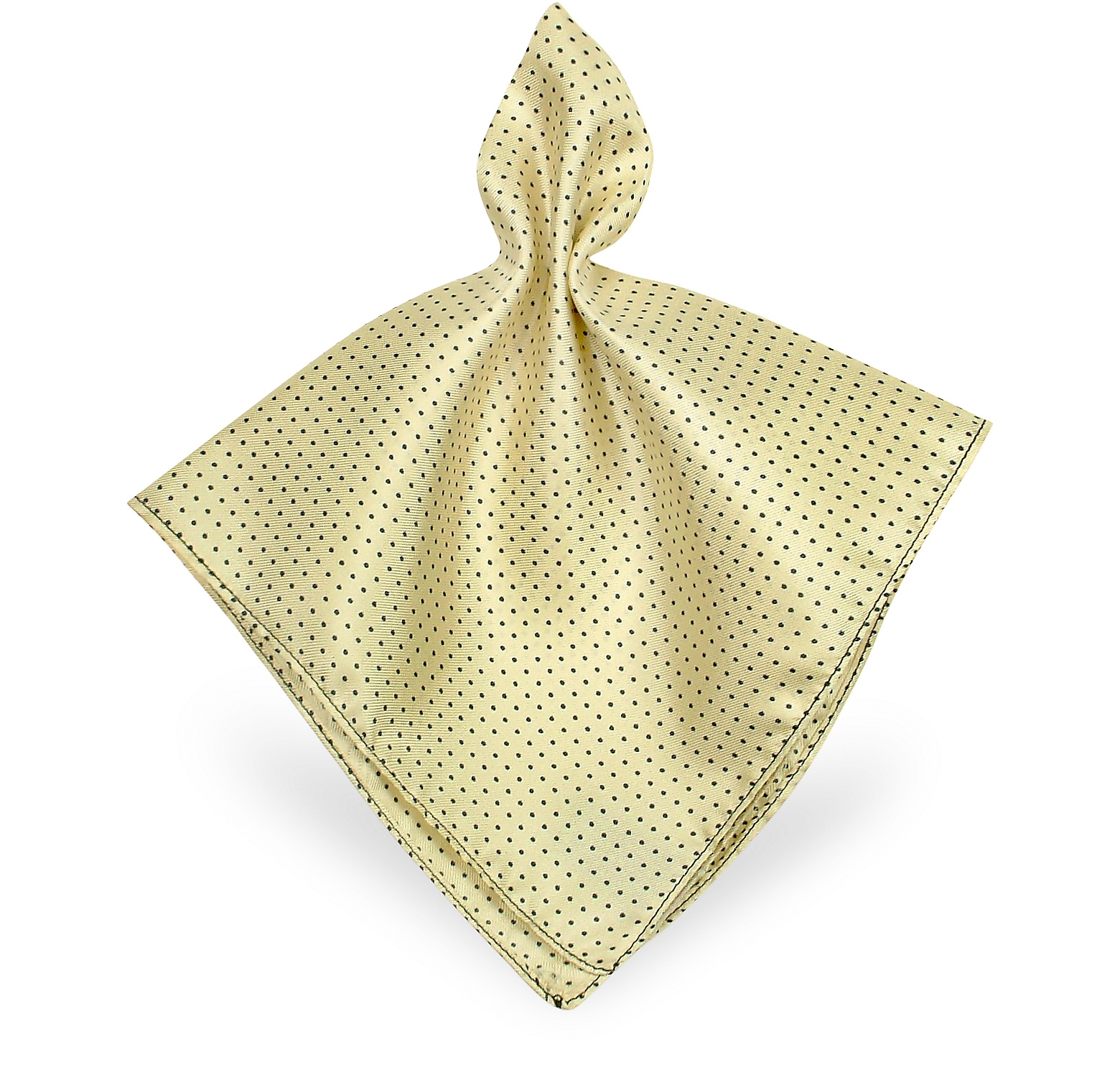 Mini Polkadot Twill Silk Pocket Square