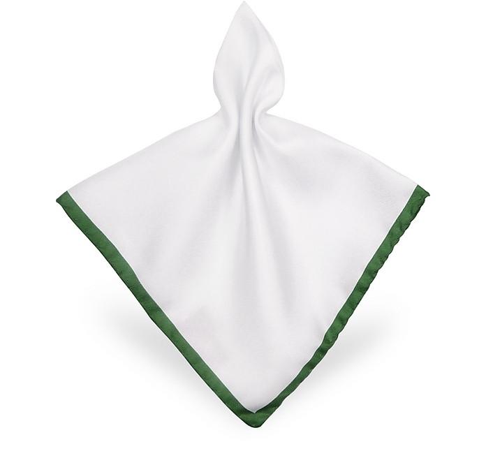 Taschentuch aus weißer Seide mit Rahmen - Forzieri
