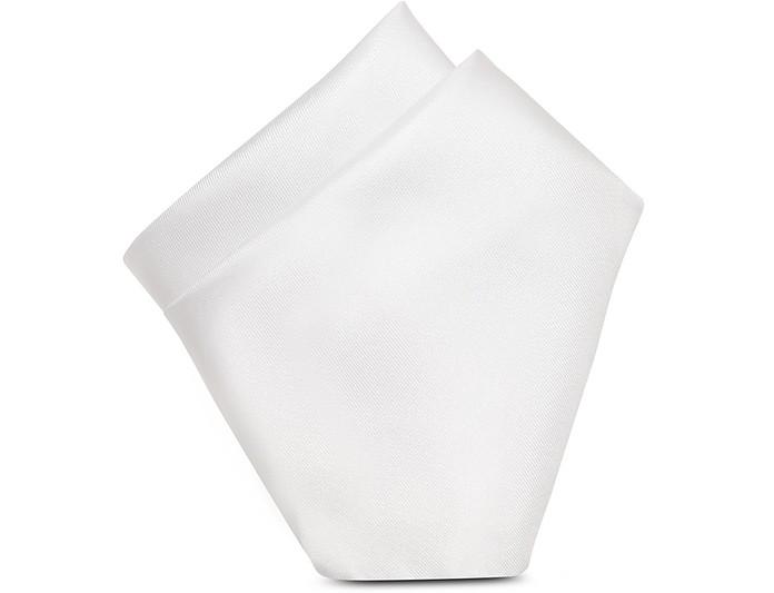 Pañuelo de Bolsillo Blanco de Seda - Forzieri