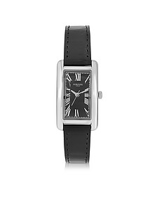 Andromeda Steinless Steel Women's Watch w/Croco Embossed Leather Strap