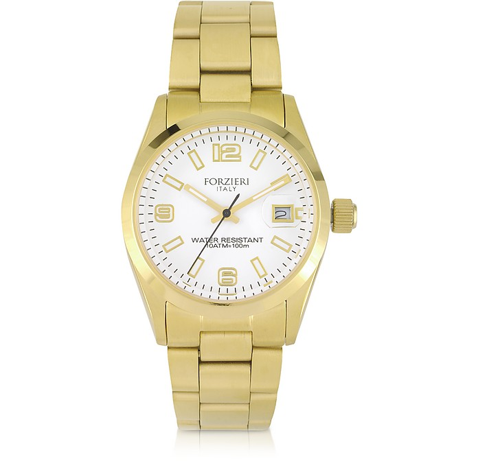 Roger Mini Golden Stainless Steel Women's Watch - Forzieri