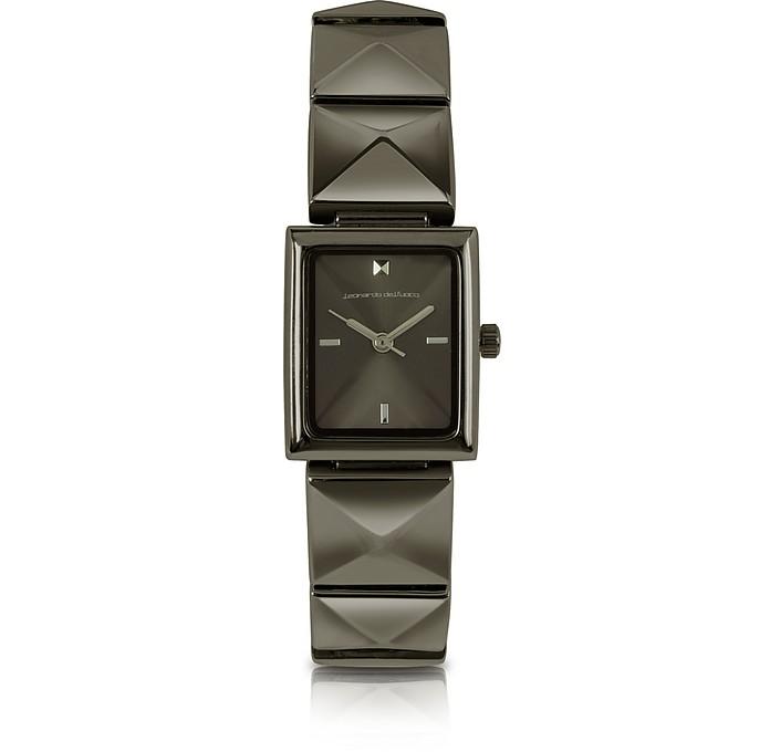 Samantha - Black Stainless Steel Bracelet Watch - Leonardo Delfuoco