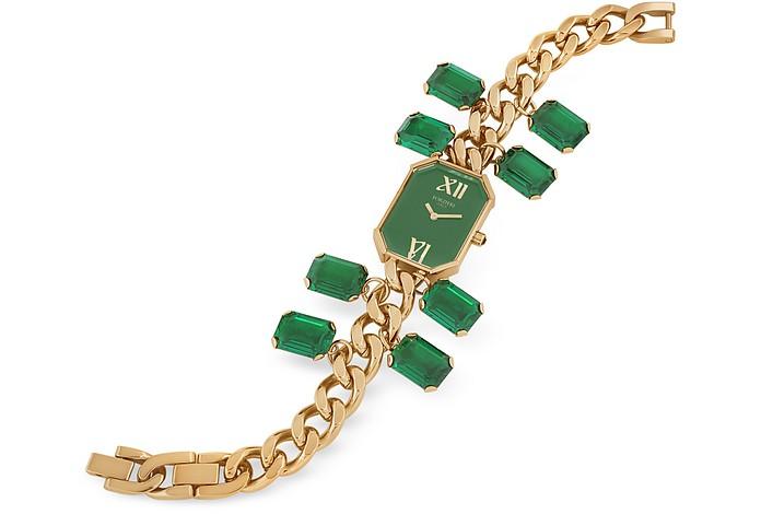 Emerald Crystal Bracelet Dress Watch - Forzieri