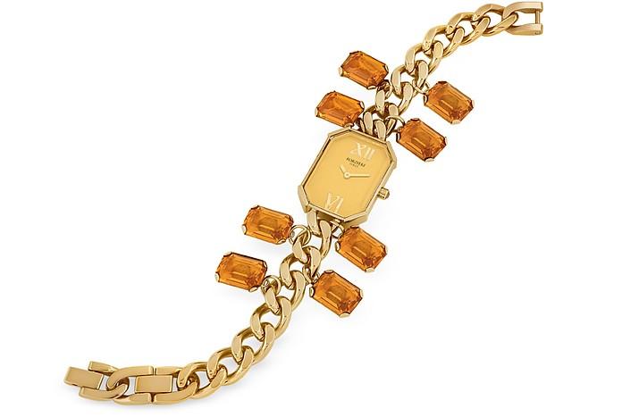Orange Crystal Bracelet Dress Watch - Forzieri
