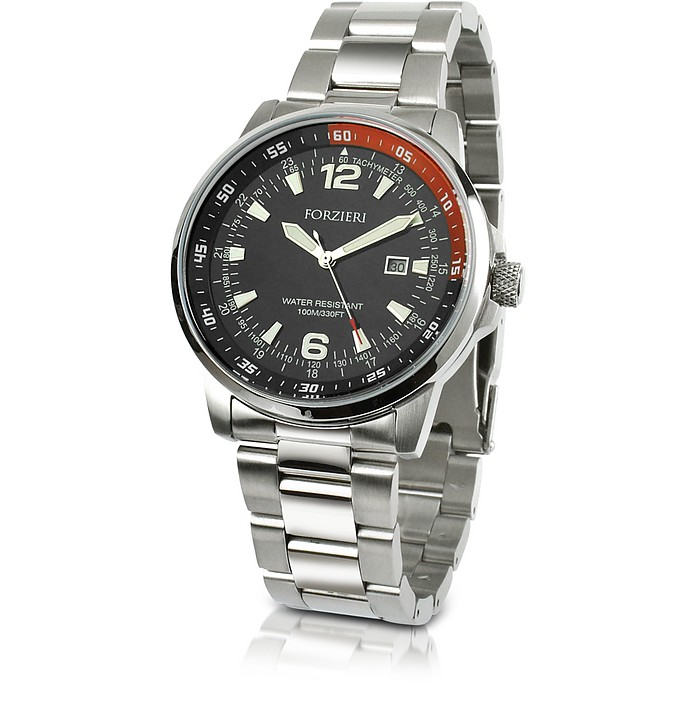 Men's Stainless Steel Bracelet Dive Watch - Forzieri