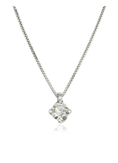 Halskette aus 18k Weissgold mit Diamanten  - Forzieri