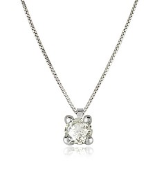 0.31 ctw Diamond Vanity Pendant 18K White Gold Necklace - Forzieri
