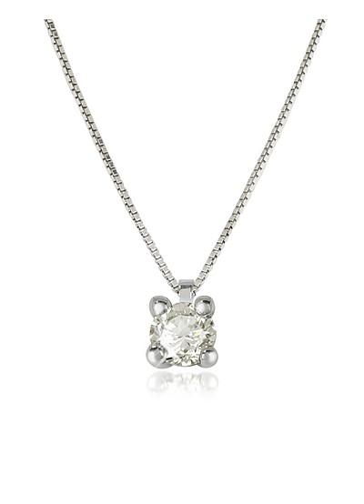 Halskette Vanity aus 18k Weissgold mit Diamanten  - Forzieri