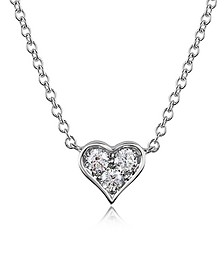 0.31 ct Diamond Heart Pendant Necklace - Forzieri