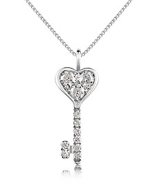 0.41 ct Diamond Key Pendant Necklace - Forzieri