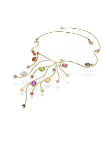 18k Yellow Gold Multi-Gemstones Necklace - Forzieri