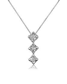0.12 ct Diamond Drop 18K Gold Necklace - Forzieri