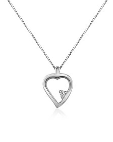 0.015 ct Diamond Heart 18K Gold Necklace - Forzieri