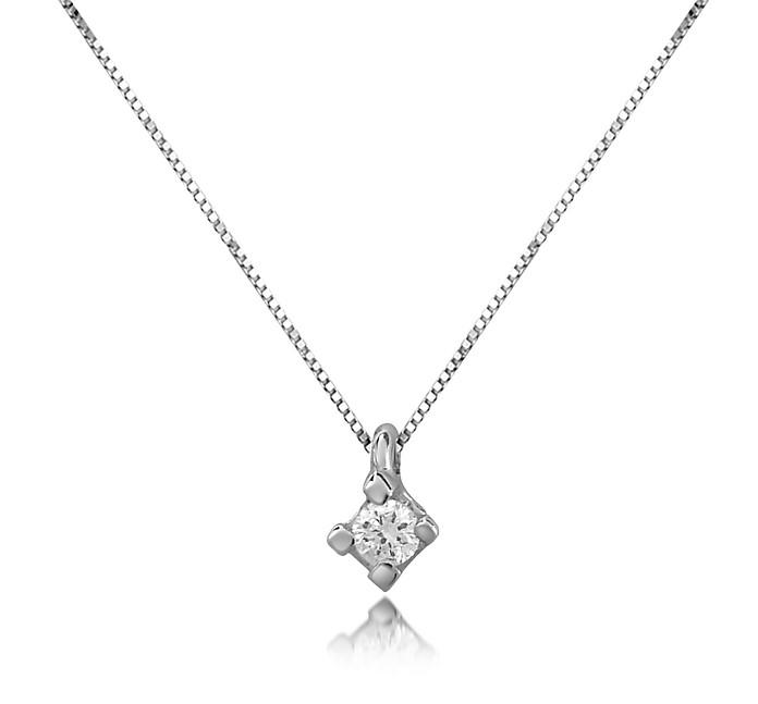 più foto f4c5b 1aa83 Princess - Collana in Oro 18 ct con Solitario Diamante 0.03 ct