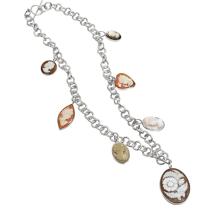 Cameo Charm Necklace - Mia & Beverly