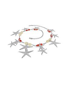 Halskette aus Sterlingsilber mit Seesternanhängern und Edelsteinen - Forzieri