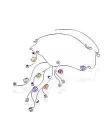 Sterling Silver Multi-Gemstones Necklace - Forzieri