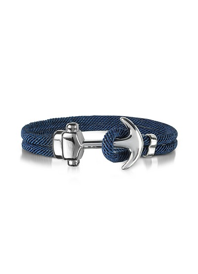 Nautical Rope Double Bracelet w/Anchor - Forzieri
