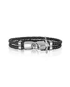 Vespa Brass and Leather Men's Bracelet
