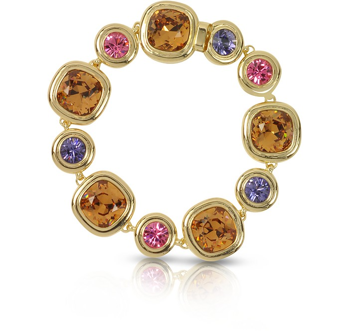 Purple, Pink and Orange Crystals Bracelet - Forzieri