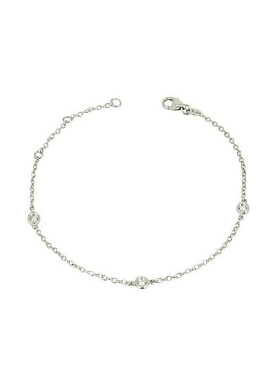 Armband aus 18k Weißgold mit Diamanten - Forzieri