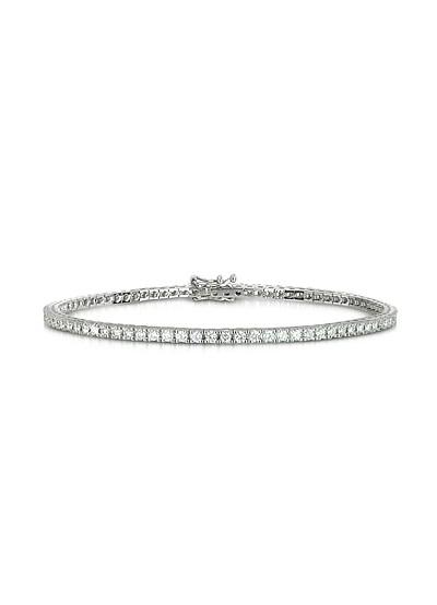 Tennis Armband aus 18k Weissgold mit Diamanten  - Forzieri
