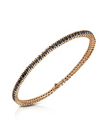 Black Diamond Eternity 18K Gold Tennis Bracelet - Forzieri