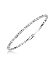 Bracelet Tennis en Or Blanc avec Diamants - Forzieri