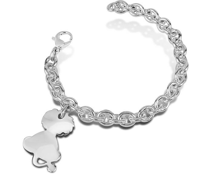 Sterling Silver Lion Charm Bracelet - Forzieri