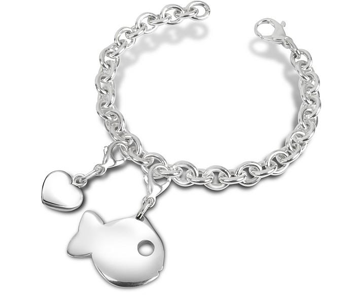 Sterling Silver Fish Bracelet - Forzieri