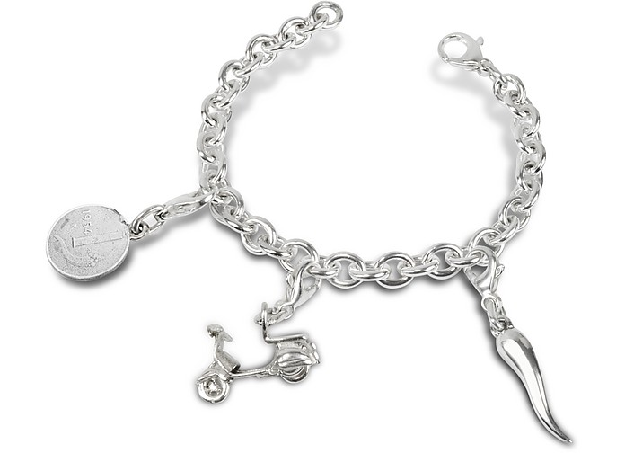 Sterling Silver Scooter Bracelet - Forzieri