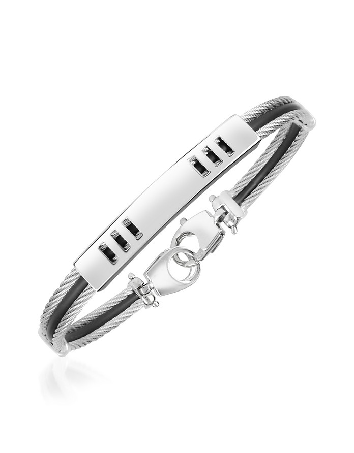 Di Fulco Line Stainless Steel Men's Bracelet  - Forzieri
