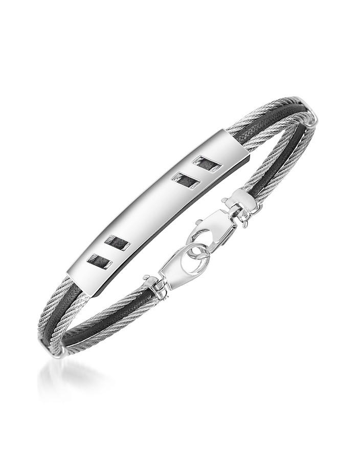 DiFulco Line Stainless Steel Bracelet - Forzieri