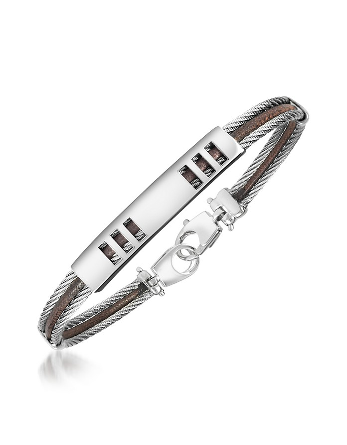 Di Fulco - Stainless Steel Bracelet with Plaque - Forzieri