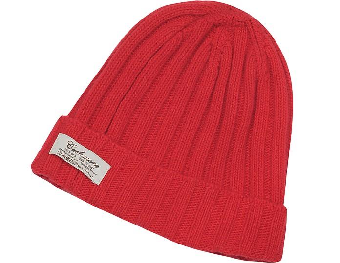 Cashmere & Wool Blend Rib Knit Beanie Hat - Forzieri