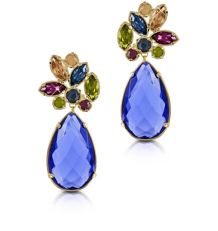 Pendientes con Cristales Multicolor - Forzieri