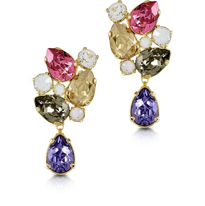 Multicolor Crystal Earrings - Forzieri