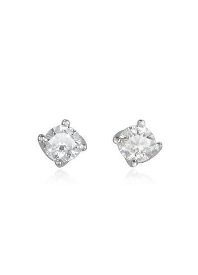 Ohrringe aus 18k Weissgold mit Diamanten in Blumenform - Forzieri