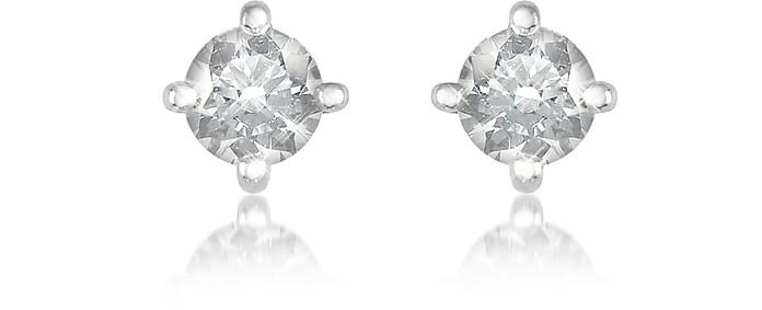 0.37 ct Four-Prong Diamond Stud Earrings - Forzieri