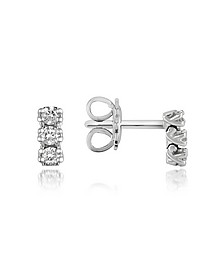 Boucles d'oreilles en or 750 avec diamants 0.22 Ct - Forzieri