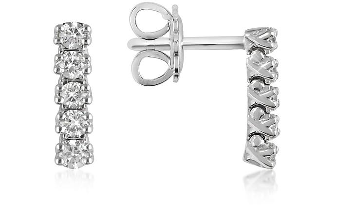 0.37 ctw Five-Stone Drop Diamond 18K Gold Earrings - Forzieri