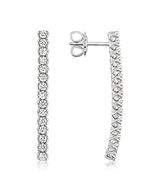 1.03 ctw Drop Diamond 18K Gold Earrings - Forzieri
